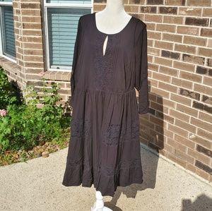 NWOT Torrid black laces dress , 2